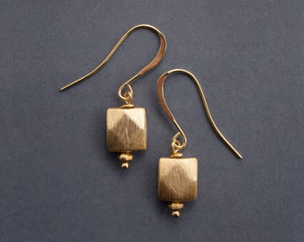 BRUSHED SQUARE Earrings