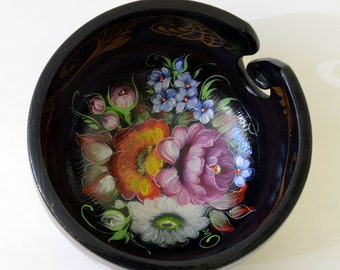 Yarn Bowl - Hand Painted Yarn Bowl - Russian Style