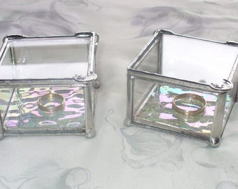 Ring Bearer Boxes, Ring Boxes, Wedding Ring Boxes, Glass Ring Boxes, Your Choice of Handle