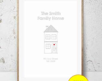 JPEG - Printable - New Home - House - Couple - House Warming - Home - Custom - DIY Print - #3