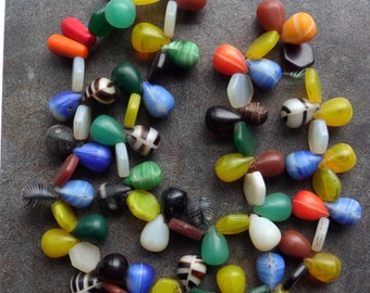 """Bohemian Glass """"Wedding"""" Beads from Mali in the African Trade"""