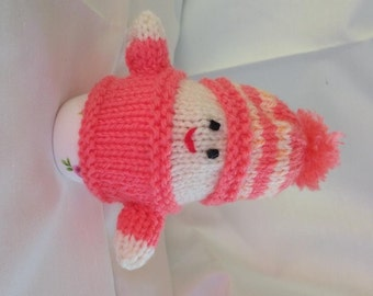 Hand Knitted Egg Cozy or Hand Puppet