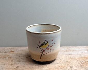 Rustic Blue Tit Cup