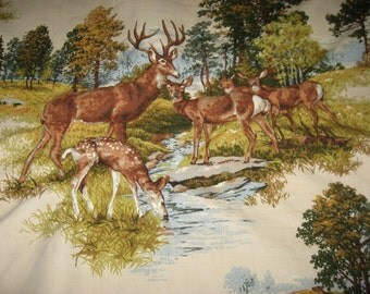 quilted panel . quilted deer . quilted forrest scene . pillow . rustic cabin . three dimensional forrest fiber art . mountain house