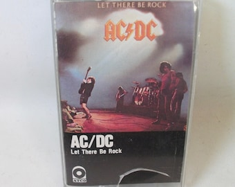 AC/DC Let there be Rock Cassette Tape