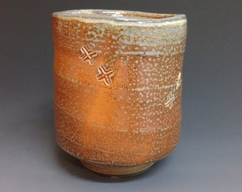 Yunomi. Tea Cup.  Bourbon Cup. Soda Fired Stoneware