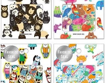 Set of 80pcs Deco Stickers - B&W Animal, Colorful Animal, Panda, Kid