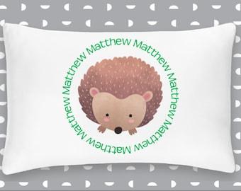 Personalized Hedgehog Pillowcase Home Decor Bedding Bed Woodland Nursery