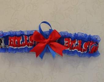 Wedding Toss Garter Handmade with Buffalo Bills fabric ( Royal Blue BB )