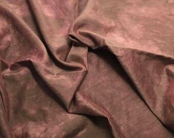 "Antique Mauve - Hand Dyed Silk/ Cotton Habotai - 18""x27"""