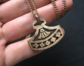 Antique Relic Necklace Talisman Necklace Pendant Necklace Long Necklace DanielleRosebean Boho Jewelry