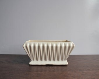 Vintage white porcelain planter, made by Stangle