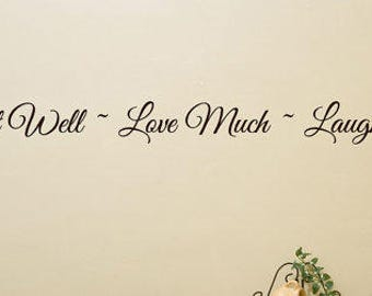 """Eat Well Wall decal words - 5"""" tall X 70"""" long"""
