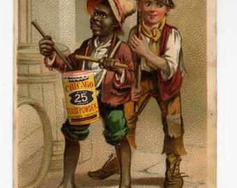Victorian Trade Card - Chicago Yeast Powder - Black Americana - Dated 1881