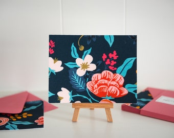 Rifle Paper Co - Fabric Note Cards - Birch Floral - Les Fleurs - Cotton + Steel // Note Cards // Stationery // Thank You Cards //