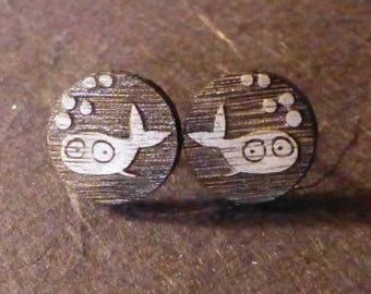 Wooden Fish Earrings