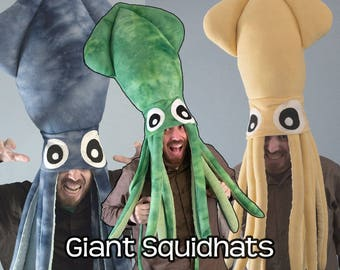 Giant Squid Hat Tie-Dye Fleece - Many Colors