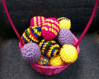 Crochet easter eggs, solid, decoration only