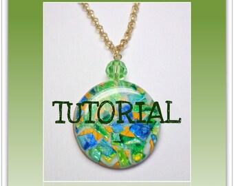 Tutorial Polymer Clay - Faux Gemstone Pendants- Jewelry Tutorial- Technique Tutorials- Beginners Easy Tutorial- DIY