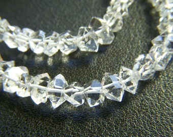 Top Grade Raw Herkimer Diamonds - Partial Strand - 6 to 7mm - 3.5 Inches
