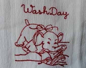 Vintage Inspired Kitchen Towel, Dish Towel, Tea Towel