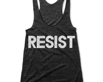 Resist (Women's Racerback Tank)