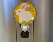 Bunny Night Lights - 5 Bunny Easter Night Lights To Choose From - Fused Glass Handcrafted Easter Bunny Nightlights