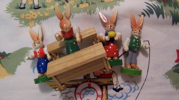 four tiny wooden rabbits figurines four tiny wooden rabbits figurines four tiny wooden rabbits figurines four tiny wooden rabbits figurines 🔎zoom Item details 5 out of 5 stars. (4,171) reviews Shipping & Policies these are wonderfully adorable four tiny rabbit figurines made of wood positively charming made in germany east from 2