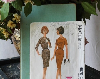 50% off Holiday Sale 1950's Secretary  Dress by McCall's pattern 6978