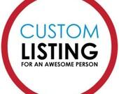 Reserved listing for John