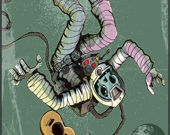 Space is a dead ringer signed 8.5x11 Print