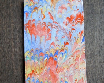 Rainy Autumn Day - ACEO Original - Hand Marbled