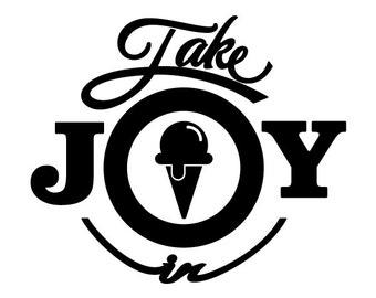Take Joy In Ice Cream Decal