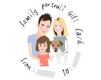 Family portrait GIFT CARD pre-booking, special offer