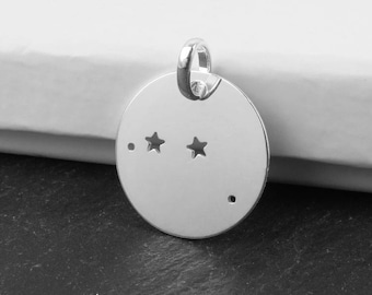 Sterling Silver Aries Constellation Pendant 18mm (CG9613)
