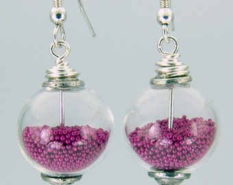14mm Microbead earrings YOU PICK the colors! Sterling earwires