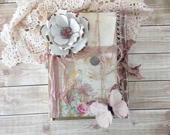 Shabby Altered Book Bundle Spring Assemblage Art