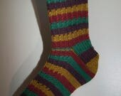 Handknitted Socks in Autumn Colours
