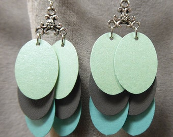 Oval paper earrings from beccasblend