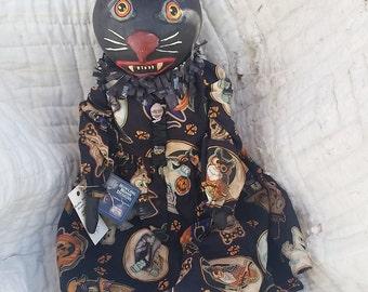 Vintage look Gourd Head Cat