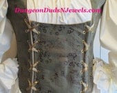 DDNJ Choose Fabric Reversible Demi Muffin Top Style Corset Side Lace Plus Custom Made ANY Size Renaissance Pirate Medieval Costume Tudor