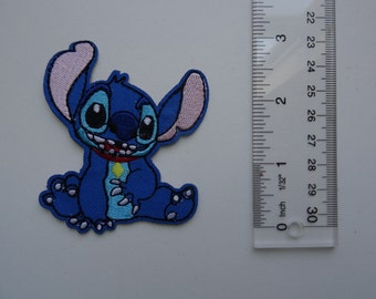 Disney Embroidered Iron On /Sew On Applique Patch - Stitch Sitting