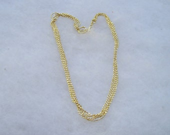 Lovely Gold Vermeil Sterling Silver 925 Multi chain Italy Necklace