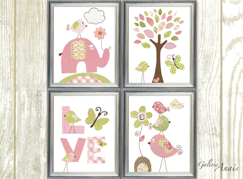 Nursery Wall Decor Butterflies : Baby room decor butterfly nursery wall art girl