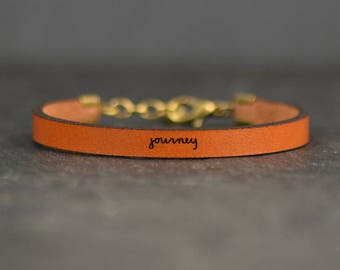 journey bracelet | adoption gifts | wanderlust travel gift | graduation gift | life is a journey | freedom bracelet | message bracelet