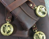 Captain's Log Leather Journals By Binding Bee / Deluxe Leather Journal / Maps / Compass