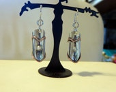 Copper and Sterling and Pearl Earrings