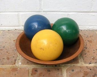 Vintage Bocce Balls Vintage Wooden Bocce Balls