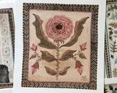 Persian Rose, original miniature watercolor painting