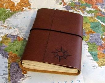 compass explorer travel journal with maps option to monogram by tremundo